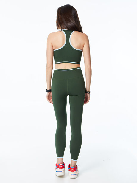 Ribbed Seamless Bra and Legging Kit Green, Green, large image number 6