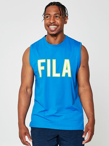 Naolin Muscle Tank Top, Blue, large image number 0