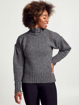 Charcoal Kori Turtleneck Sweater, Charcoal, large