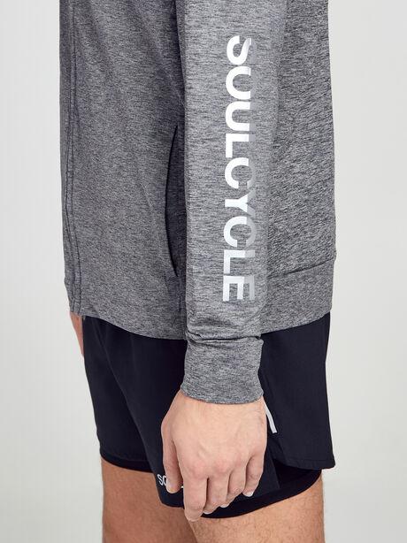 Dry Hoodie Full-Zip Hyperdry Lite Sweatshirt, Black/Htr/Black, large image number 1