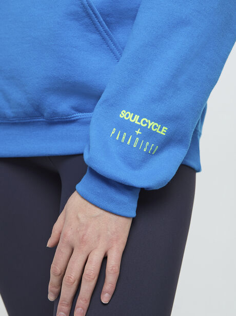 Find Your Soul Bright Blue Hoodie, Blue, large image number 2