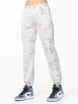 Tie-Dye Billie Sweatpant Black/White, Black/White, large