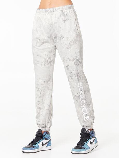 Tie-Dye Billie Sweatpant Black/White, Black/White, large image number 1