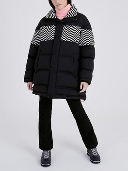 Zigzag Puffer, Black, large