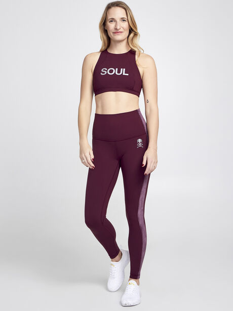 Free To Be Serene High Neck Sports Bra, Garnet, large image number 3