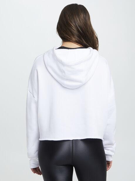 Frost Hoodie W/ Iridescent Foil, White, large image number 2