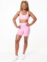 YOS x Lindsey Zip Front Bra Pink, Pink, large