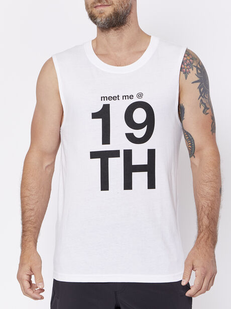 Unisex Meet Me Call Letter Tank, , large image number 0