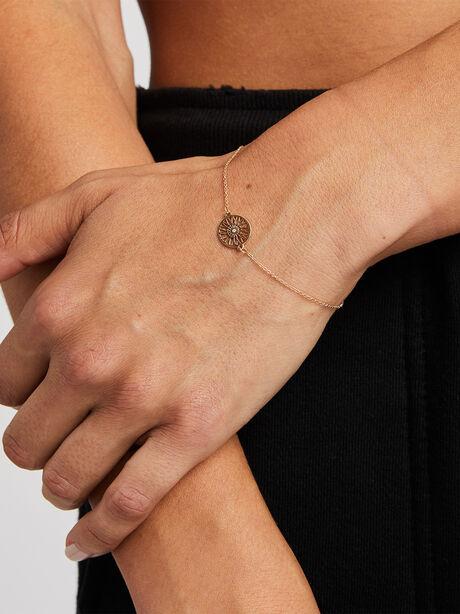 Wheel Bracelet with Diamond, Gold, large image number 0
