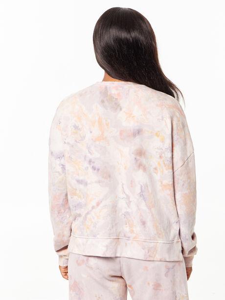 Tie-Dye Lounge Sweatshirt Marble, Tie Dye, large image number 4