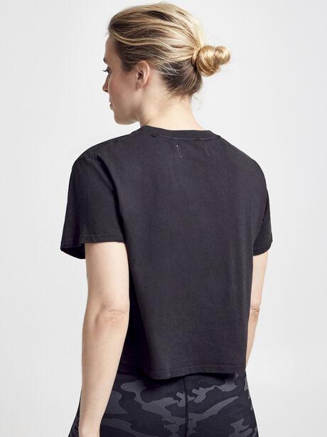 Short Sleeve Distressed Shirt, Vintage Black, large image number 2