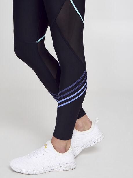 Gradient Lines Leggings, Black, large image number 2