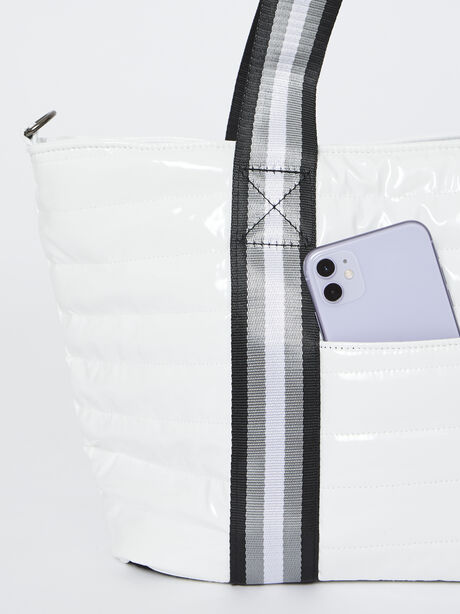 Junior Wingman Bag-White Patent, White, large image number 2