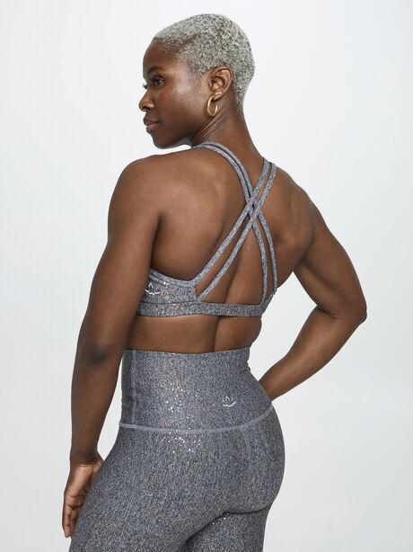 Double Back Alloy Speckled Bra, Black/Gold, large image number 1