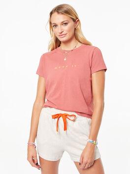 The Rise & Shine T-Shirt Marsala, Red, large