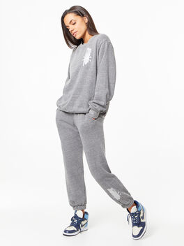 Derek Crew Sweatshirt Grey, Grey, large
