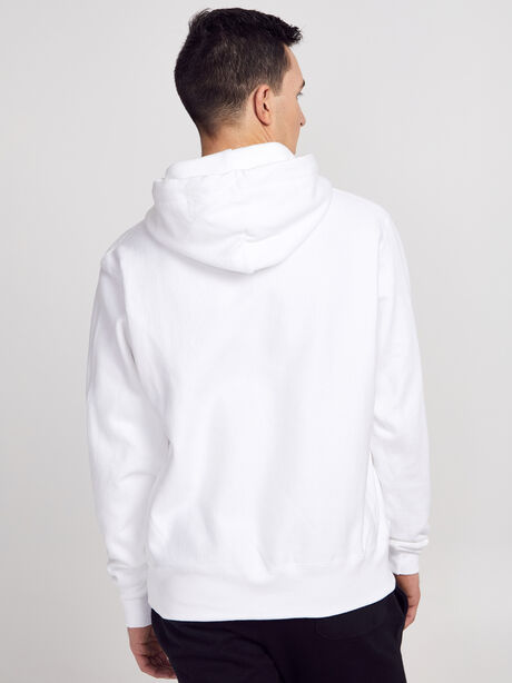 Tonal Hoodie Sweatshirt, White, large image number 3
