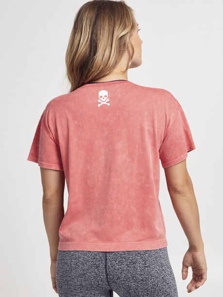 Boxy Seamless Tee Shirt, Bright Red, large image number 1