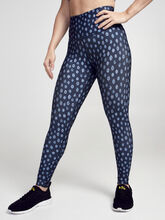 Ditsy Cheetah Milestone Legging, Blue Multi, large
