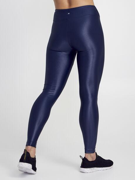 Lustrous High Rise Legging, Navy, large image number 3