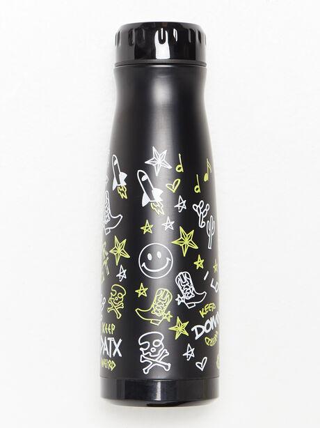 Texas Water Bottle Black, Black, large image number 2