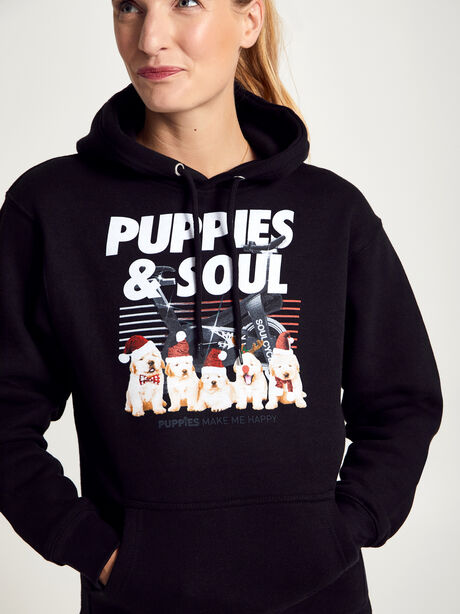 Holiday Puppies Soul Sweatshirt, Black, large image number 0