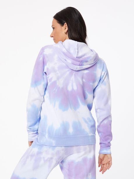 Tie-Dye Billie Hoodie Ice/Lavender, BLUE/PURPLE, large image number 3
