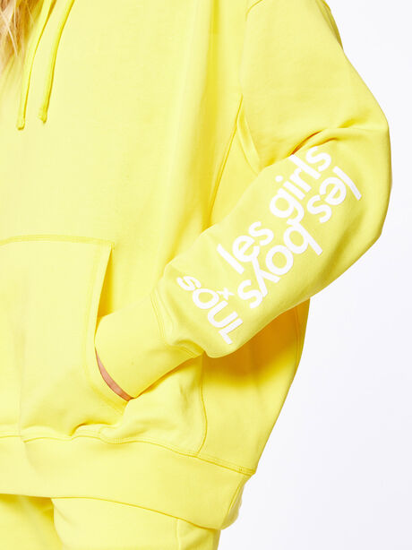 Exclusive Oversized Hoodie Yellow, Yellow, large image number 3