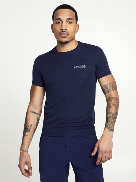 Navy Distance Tee, Navy, large image number 1