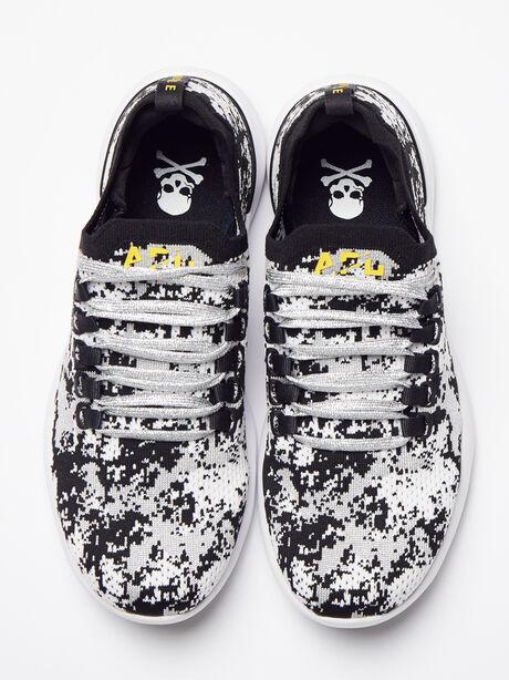 Women's Camo Breeze Sneaker, Black/Metallic Silver, large image number 1