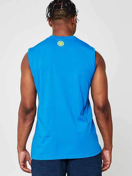 Naolin Muscle Tank Top, Blue, large image number 1