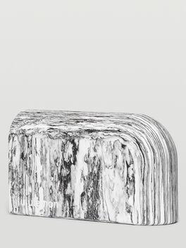 Inner Flow Yoga Block Marbled Black/White, Black/White Marble, large