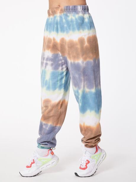 Tie-Dye Stevie Sweatpant Forest/Steel/Golden Brown, Tie Dye, large image number 0