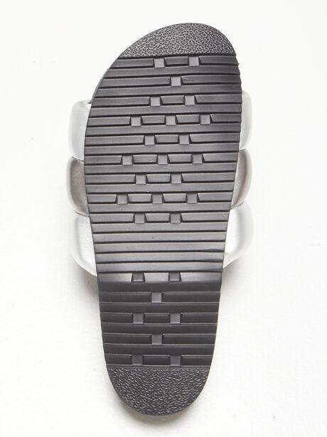 The Puffy Slide Metallic, Black/Metallic Silver, large image number 3