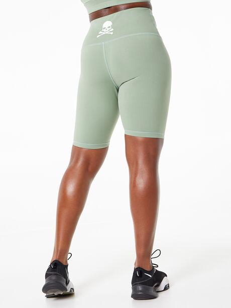 Tulia Mocha Biker Shorts Green, Green, large image number 3