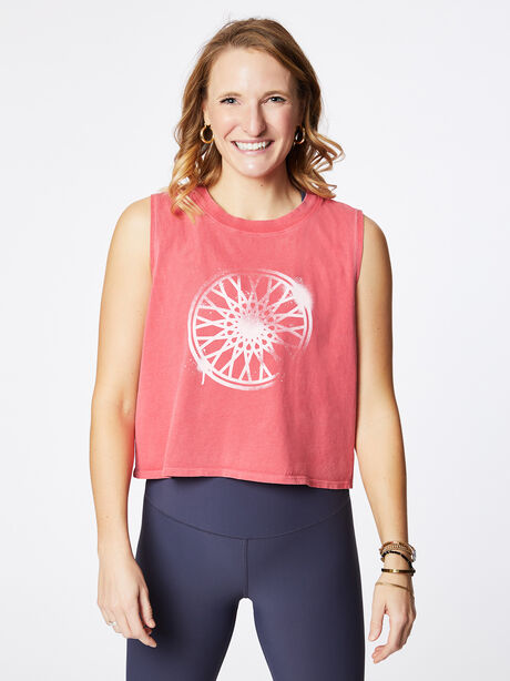 Dylan Cropped Tank Love Potion Pink, Red, large image number 0