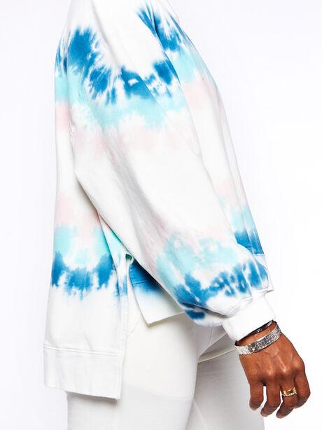 Neil Sweatshirt Balboa Blue/Camilla, White/Blue, large image number 1