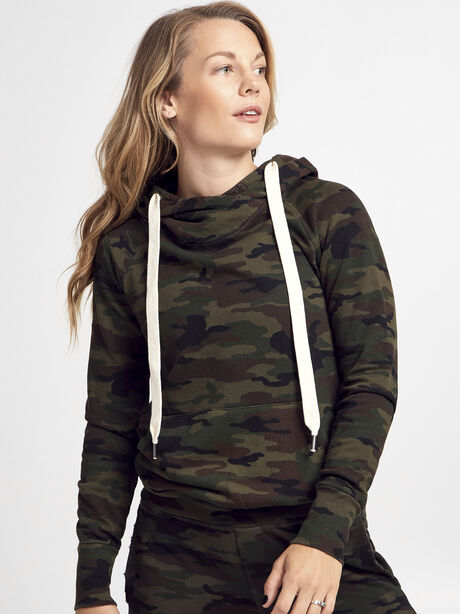 NSF Camo Lisse Hoodie, Green/Camo, large image number 0