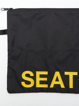 Seattle Reusable Sweat Bag, Black, large