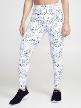 Snow Leopard Leggging, Black/White, large