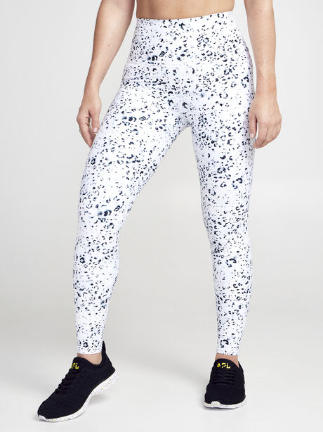 Snow Leopard Leggging, Black/White, large image number 0