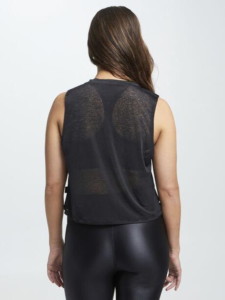 Renee Cropped Performance Tank Black, Black, large image number 2