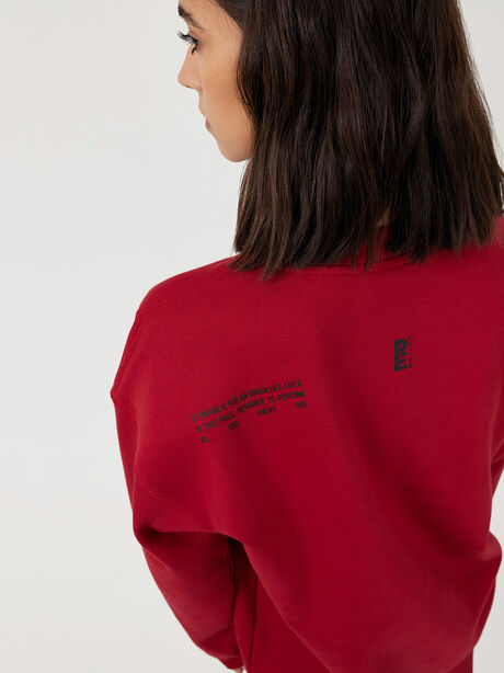 Courtside Sweatshirt Chilli Pepper, Red, large image number 4