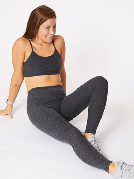 Yoga Legging Charcoal, Charcoal, large