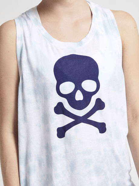 Scoop Crop Tank Top, Tie Dye, large image number 3