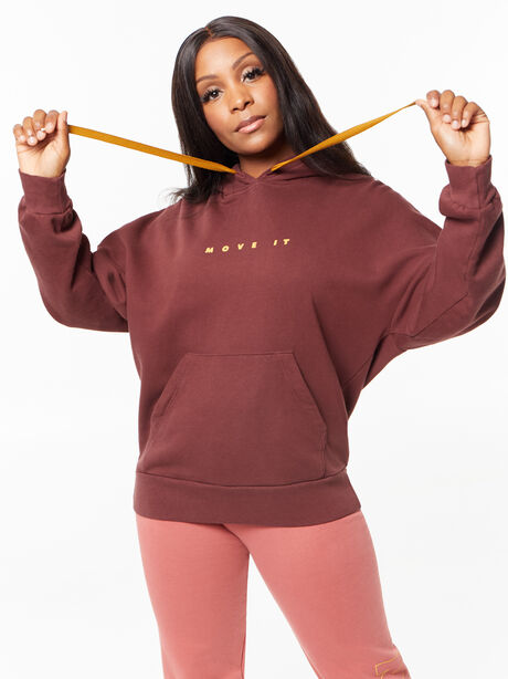The Whip It Hoodie Brown Stone, Maroon, large image number 0