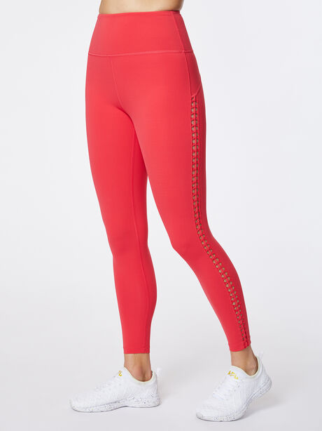 Looped Through High-Rise Podium Legging Teaberry, Hot Pink, large image number 0
