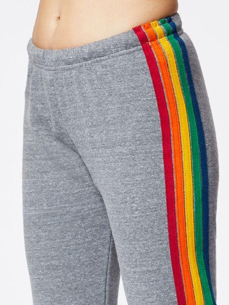 5 Stripe Sweatpant Heather Grey, Heather Grey, large image number 1