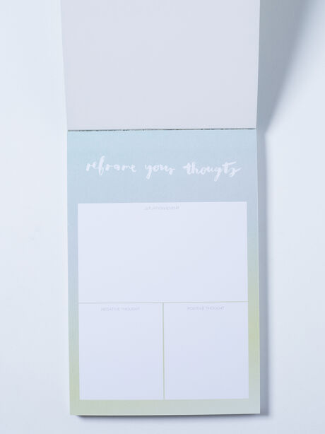 Reframe Your Thoughts Notepad, Blue/Green, large image number 1