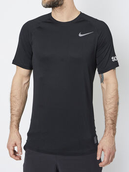 Nike Pro Shortsleeve Shirt, Black/Black/Anthracite/Dark Gr, large